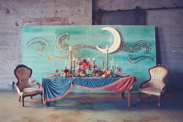 art-nouveau-engagement-moon backdrop