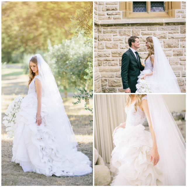 couture ruffle wedding dress