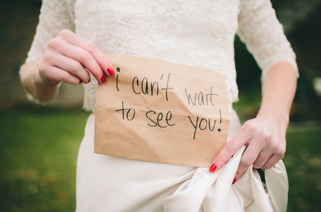 i cant wait to see you message-wedding-red nails