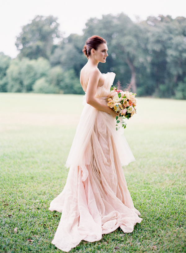 Blush bouquet archives glitter inc glitter inc for Peach dresses for wedding