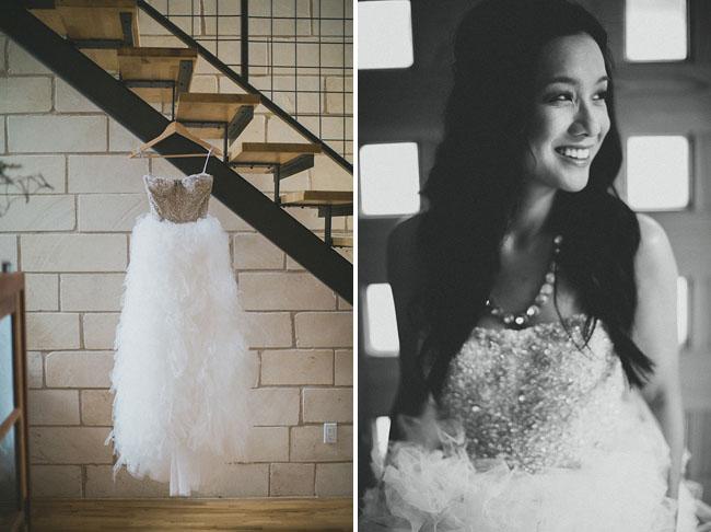 ruffled tulle wedding dress hanger