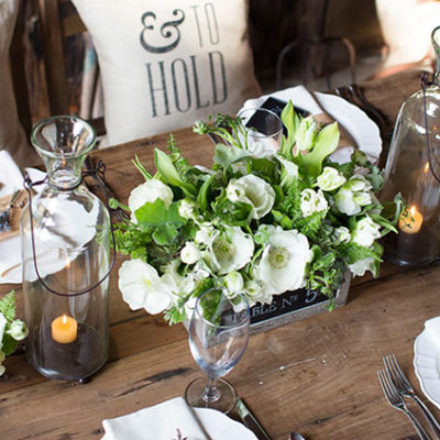 To Have + To Hold Rustic Tablescape