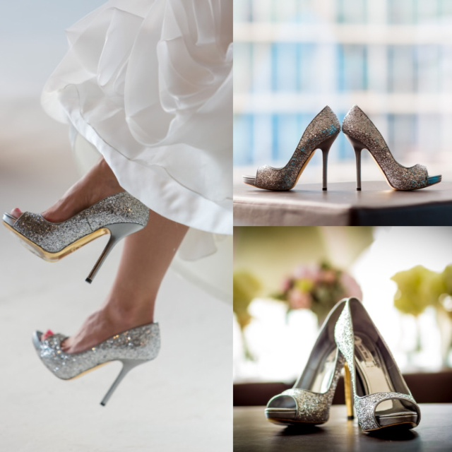 wedding bride silver glitter miu miu heels peep-toe _ glitterinc.com