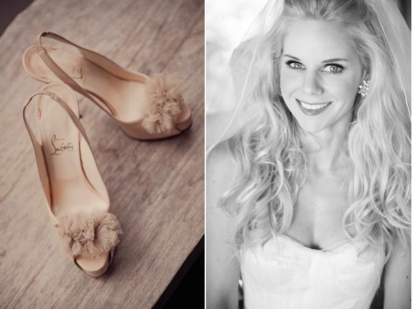 Bali Wedding via Style Me Pretty Christian Louboutin nude shoes