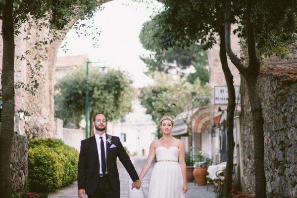 Ivy and Aster wedding dress Amalfi Coast Italy