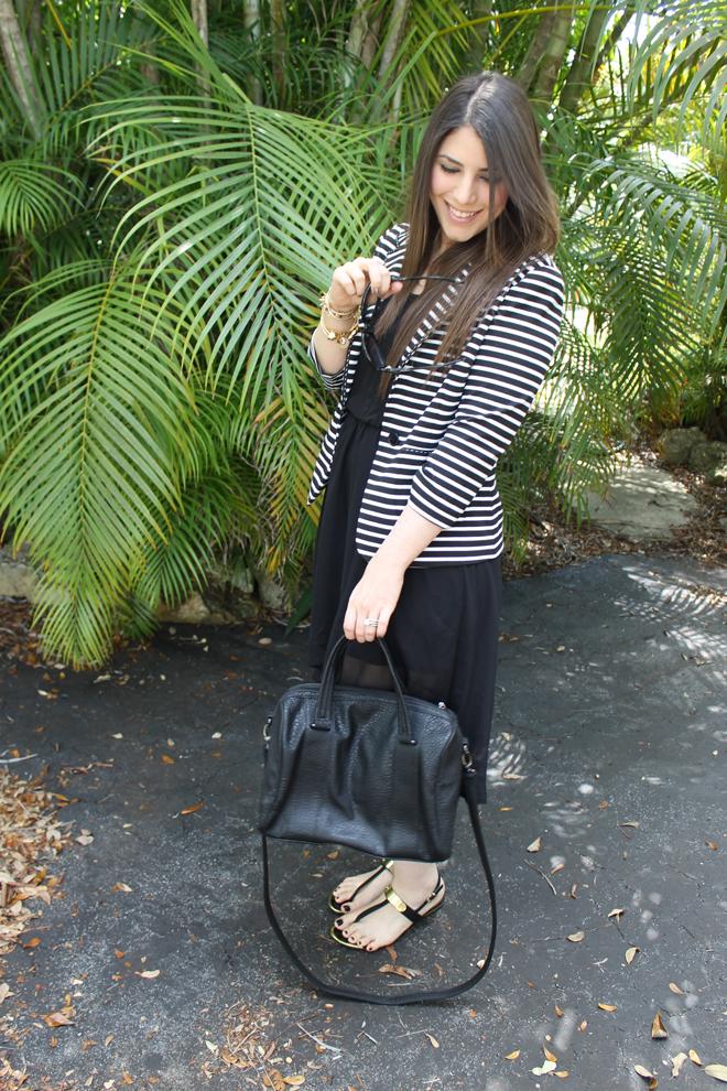 Lexi-TJMaxx-Style-Scout-black-and-white-spring-stripes-blazer-sandals-_-glitterinc.com