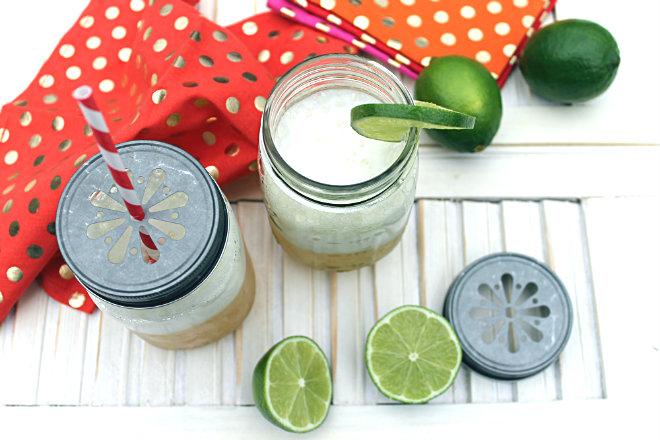 Sauza-rita Margaritas mason jars lime _ glitterinc.com