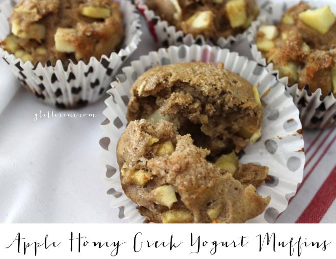 apple honey cinnamon greek yogurt whole wheat muffins recipe _ glitterinc.com