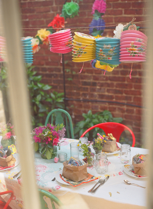 Colorful backyard spring party glitter inc for Colorful backyard ideas