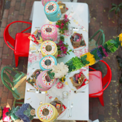 Colorful Backyard Spring Party