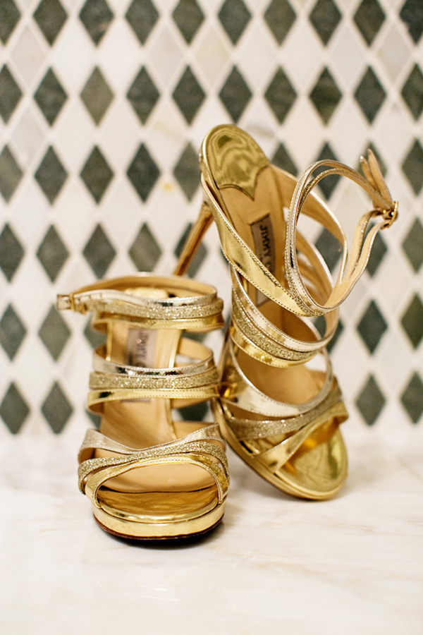 jimmy choo gold glitter wedding heels sandals shoes