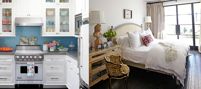 modern-eclectic-cottage-kitchen-bedroom-leopard-chair-bed