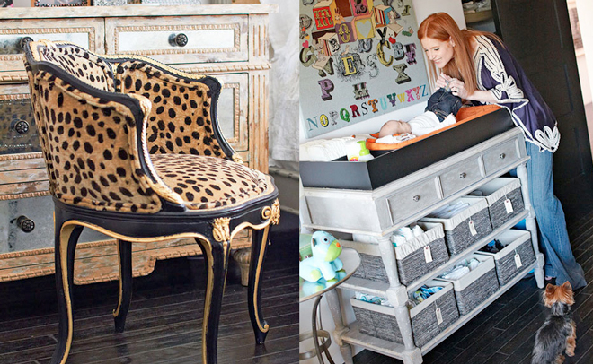 modern-eclectic-cottage-leopard-velvet-chair-nursery-grey-bohemian