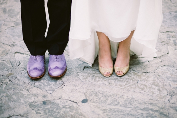 sparkle glitter jimmy choo wedding shoes groom purple