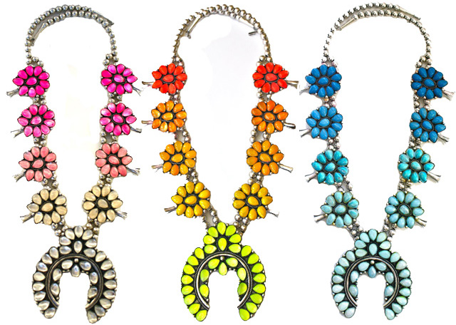 squash-blossoms necklaces ombre