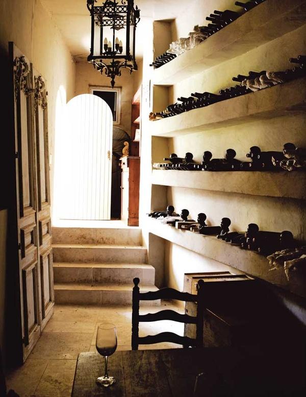 French-Inspired Johannesburg Farmhouse cellar