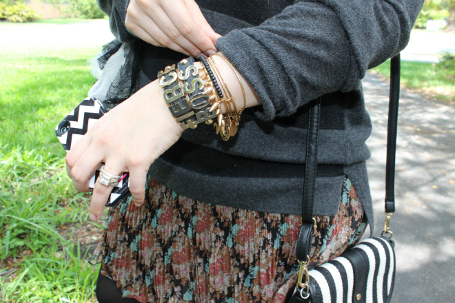 Lexi TJ Maxx Prints floral slower skirt stripes purse chevron bracelets _ glitterinc.com