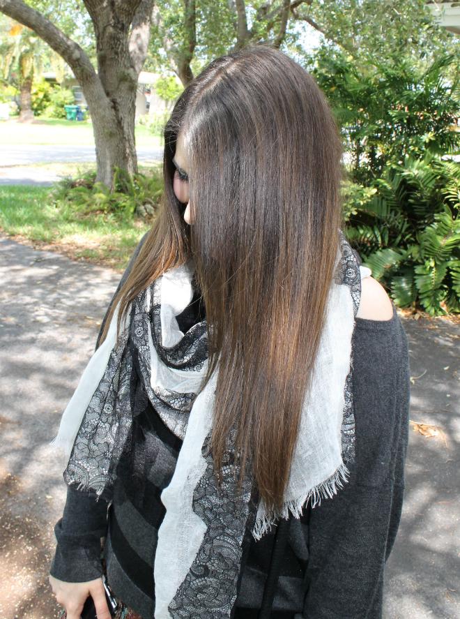 TJ Maxx prints lace scarf stripe oversize sweater floral skirt _ glitterinc.com