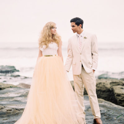 Pink Beach Wedding Styled Shoot