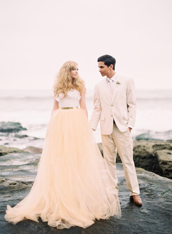 Pink Beach Wedding Styled Shoot Glitter Inc