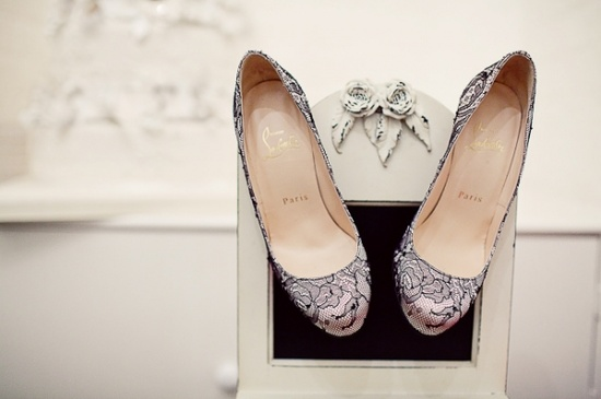christian louboutin lace pumps heels wedding shoes vintage