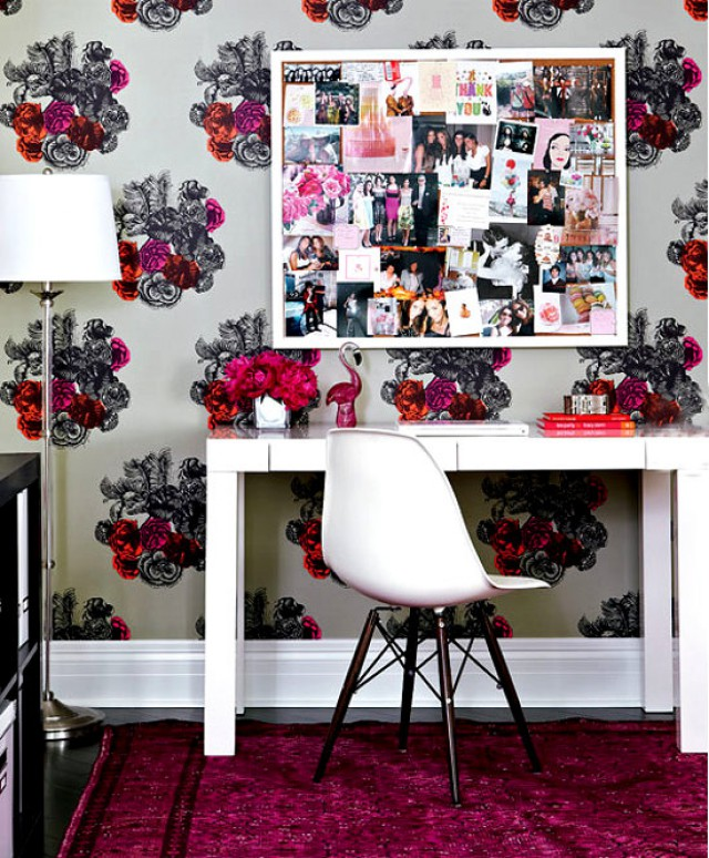 office-wallpaper-flowers-bright-home-by-Virginia-MacDonald