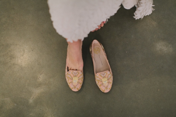 pink gold beaded skull loafers wedding dress shoes flats