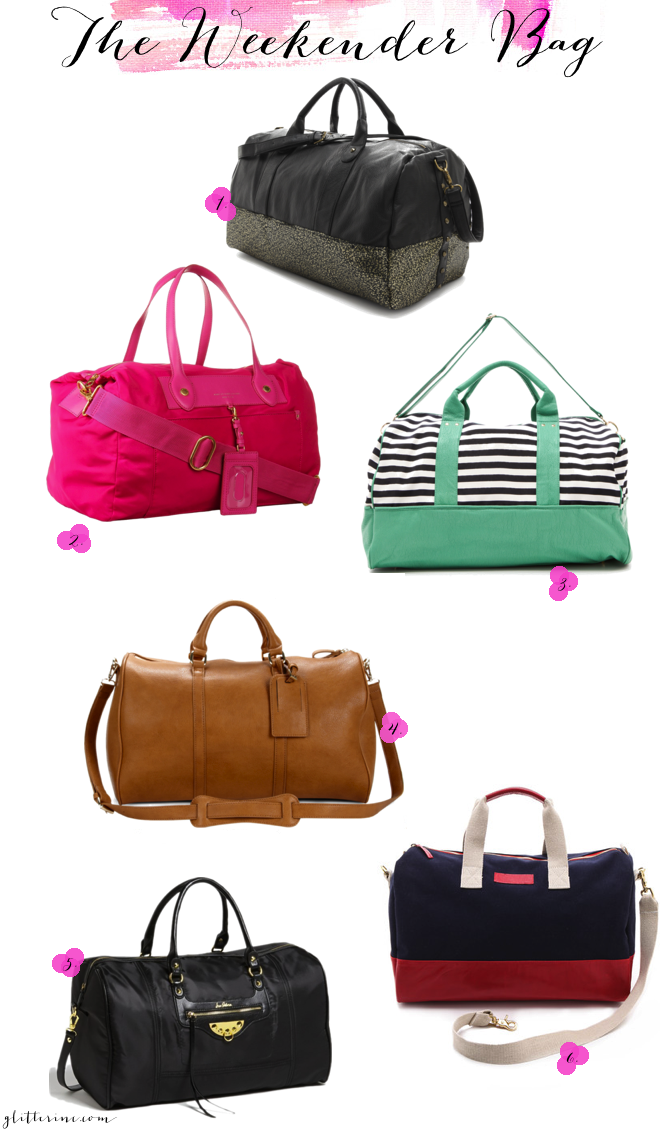 travel - the weekender bag - weekend duffle _ glitterinc.com