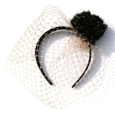 A Birdcage Veil + a Pom Pom
