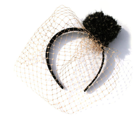 birdcage veil pom pom headband weddings bride