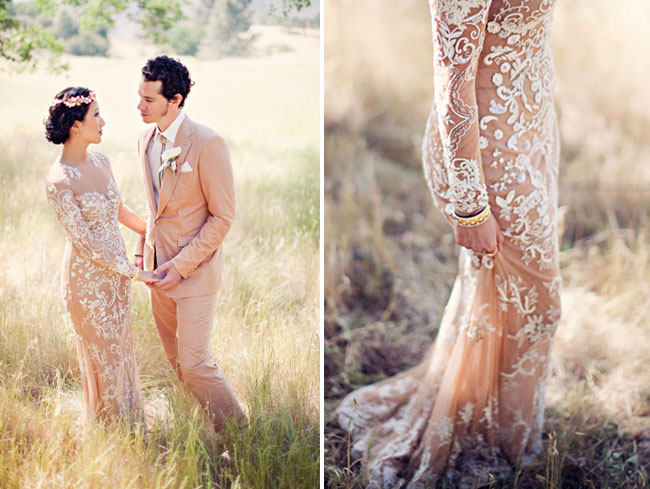 Couture Meets Bohemian Wedding