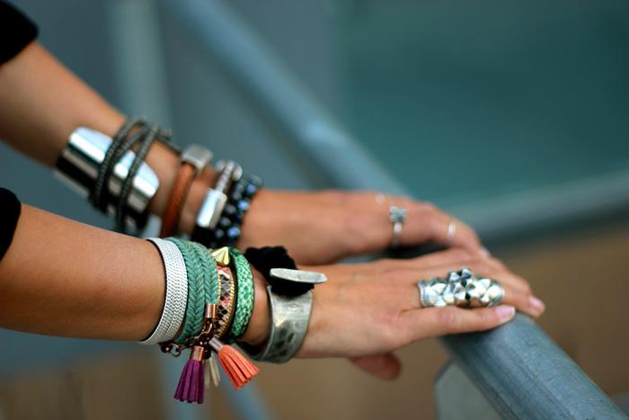 summer arm party bracelets metals color coohuco