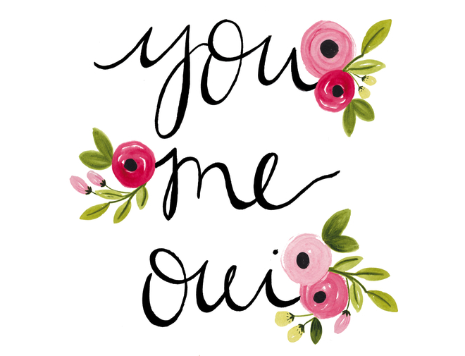 you me oui print flowers floral - the printed arrow