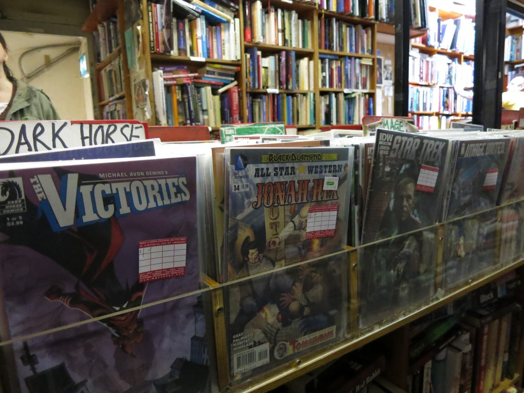 London vacation comic book store
