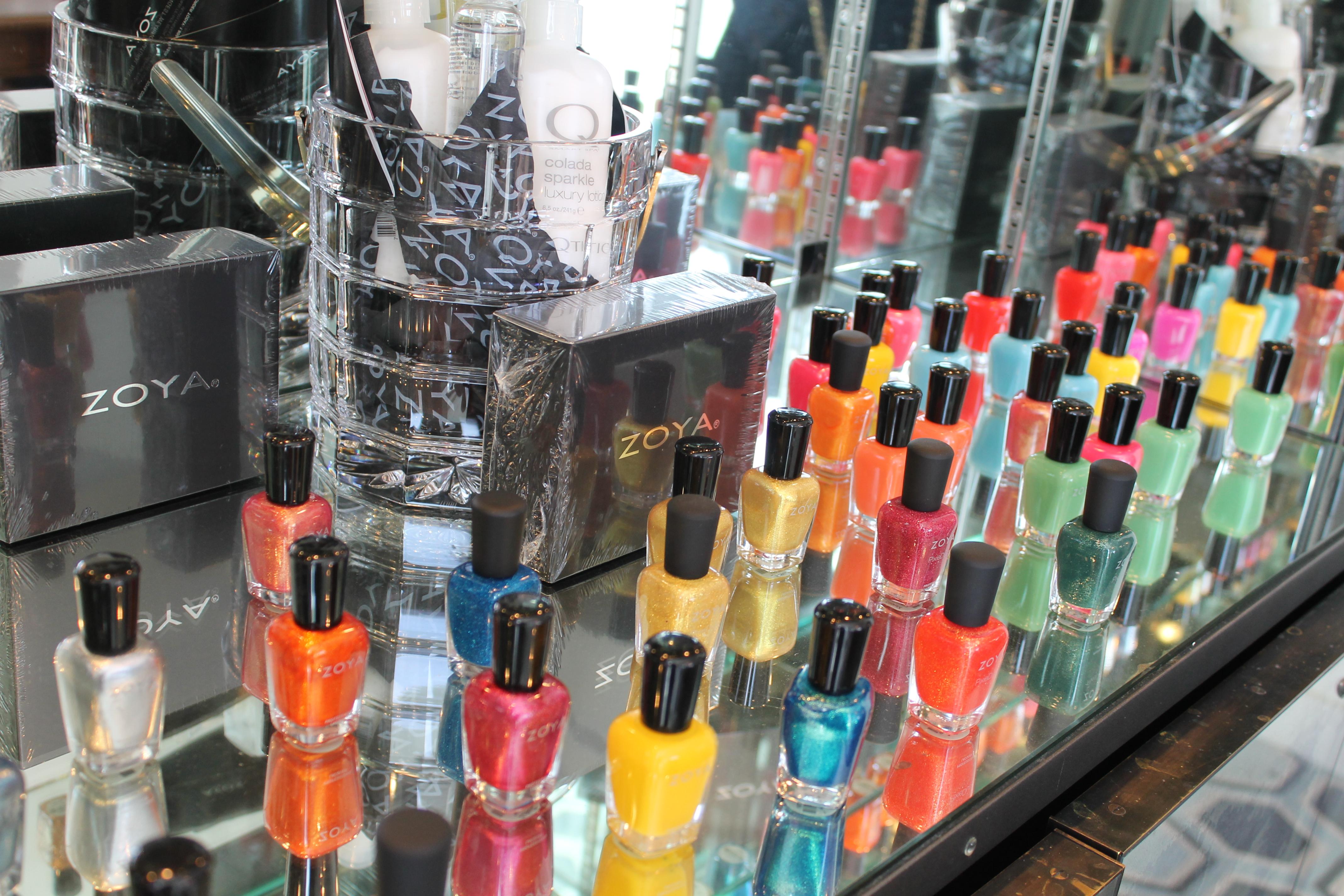 Day nails besides nail polish glass christmas ornament craft on plain
