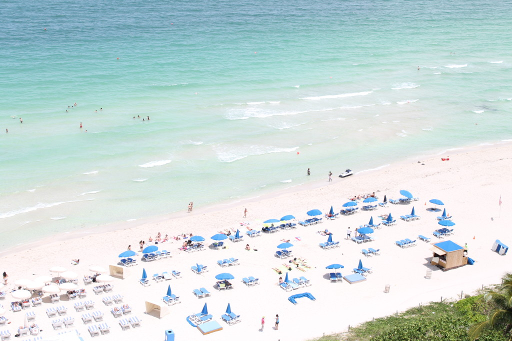 Miami Beach Swim Week MBFWSWIM Fashion Tory Burch south beach view