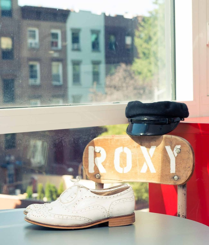 cream brogues roxy
