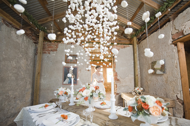 marshmallow garland wedding
