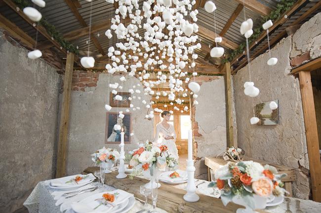 marshmallow garland wedding