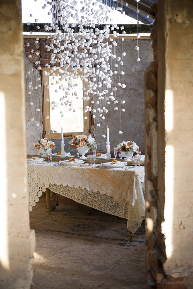 marshmallow garlands wedding party