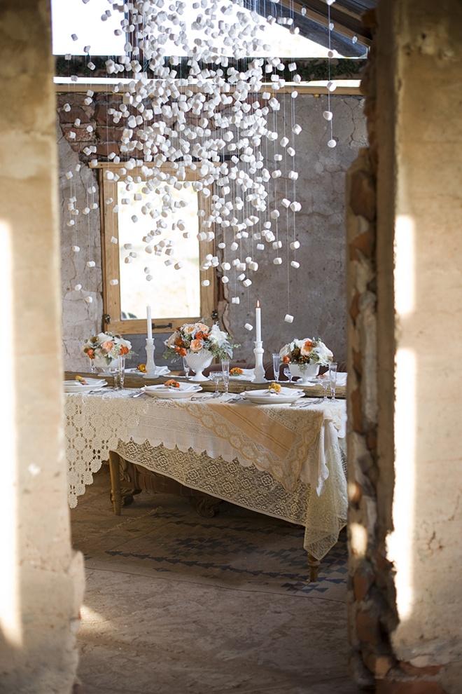 marshmallow garlands wedding party