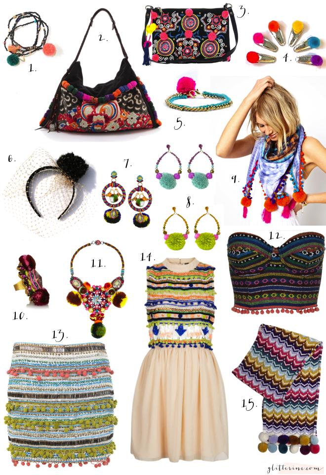 pom pom aztec color summer trend fashon _ glitterinc.com