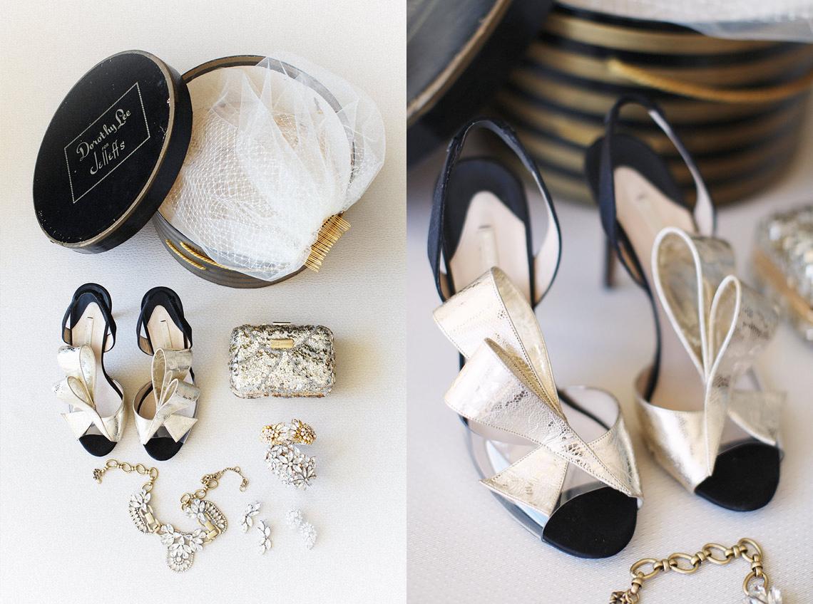 wedding accessories necklace nicholas kirkwood gold bow heels sandals sequin clutch earrings bride accessories hat box birdcage veil _ glitterinc.com