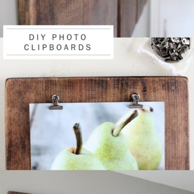 DIY Rustic Wedding Photo Clipboards