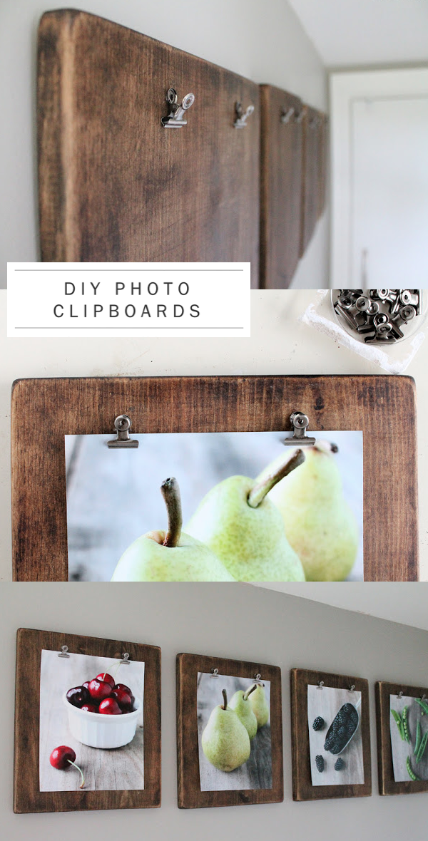 DIY rustic wedding photo clipboards photographs