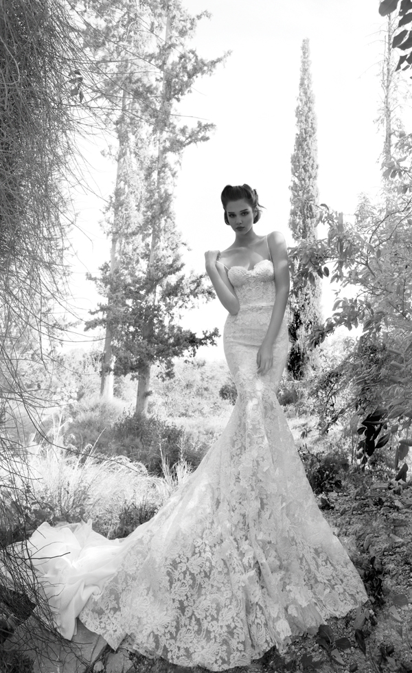 Inbal Dror Paris Collection wedding backless all lace dress