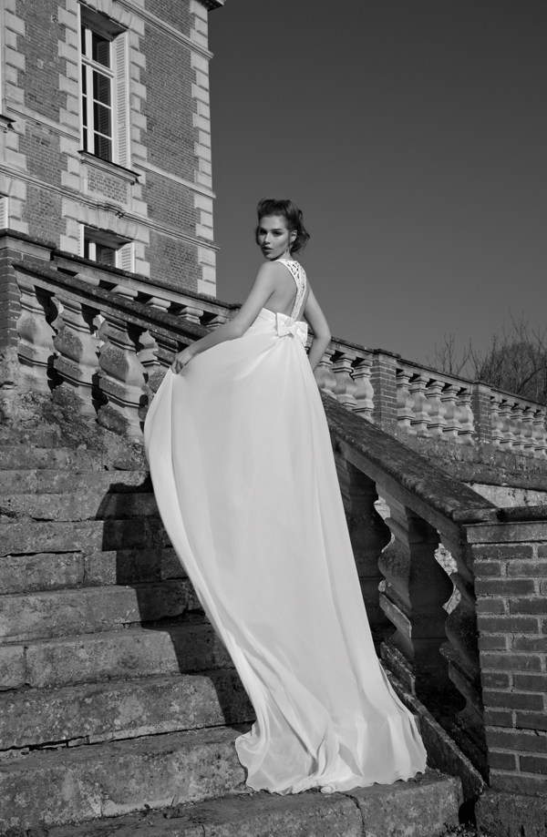 Inbal Dror Paris Collection wedding backless bow dress