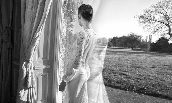 Inbal Dror Paris Collection wedding backless dress