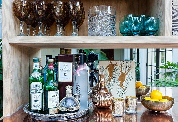 bar Katie Tarses bohemian design Spanish-Style Hollywood Hills Home
