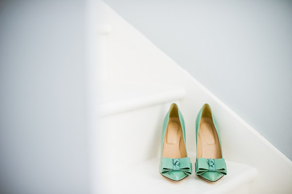 j.crew seafoam green bow heels wedding bride